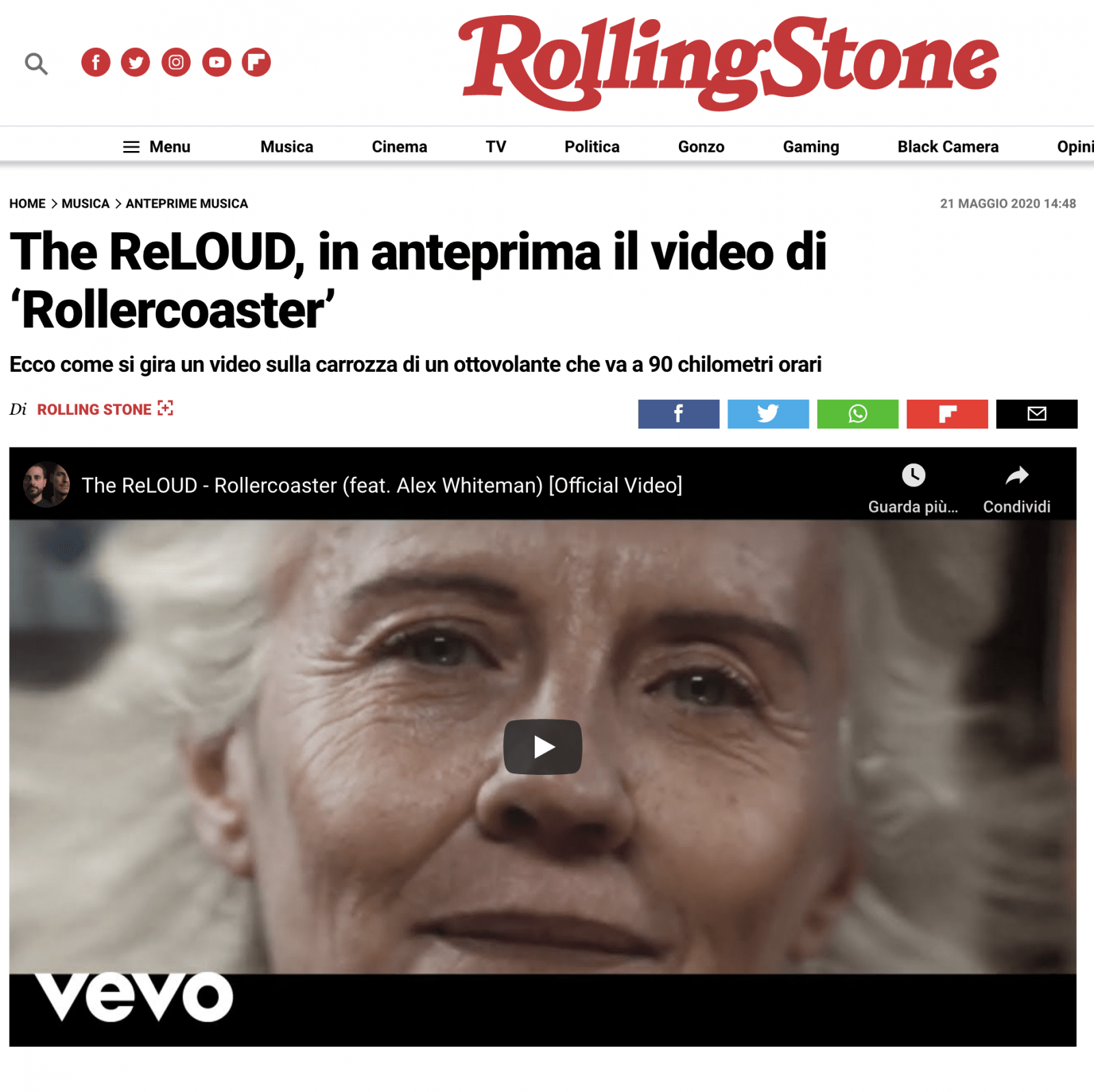 The ReLOUD su Rollingstone